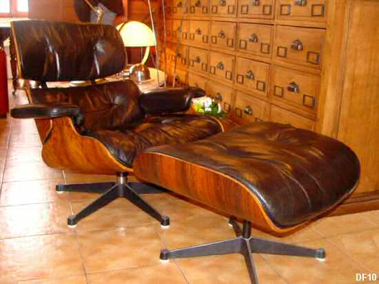 Charles et ray eames lounge chair et ottoman for Fauteuil eames rose