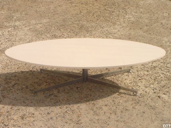Table basse design vers 1970 - Table basse ovoide ...
