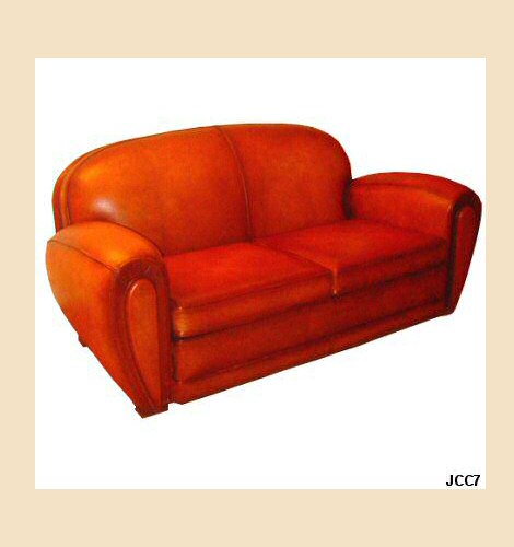 canap club dauville vers 1930 beau mod le art d co. Black Bedroom Furniture Sets. Home Design Ideas