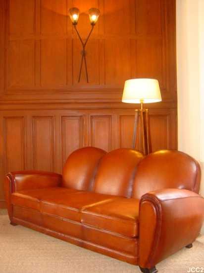 canap club deauville beau mod le art d co vers 1930 3 places. Black Bedroom Furniture Sets. Home Design Ideas