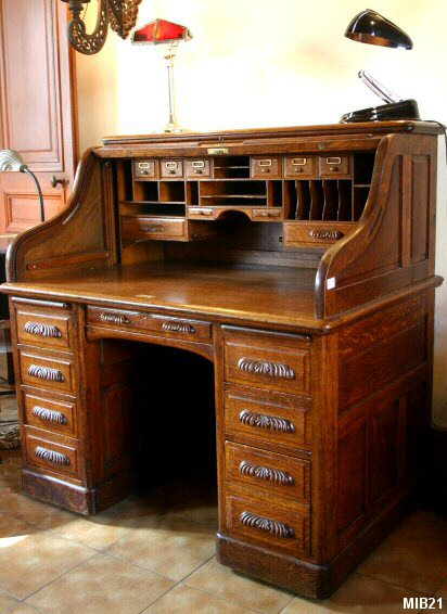 bureau cylindre de type dos d 39 ne vers 1930 de marque. Black Bedroom Furniture Sets. Home Design Ideas