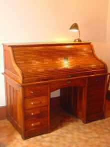 bureau am ricain cylindre 1940. Black Bedroom Furniture Sets. Home Design Ideas
