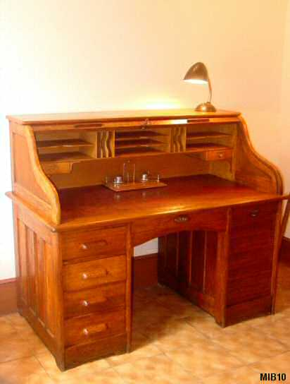 bureau am ricain cylindre 1940. Black Bedroom Furniture Sets. Home Design Ideas