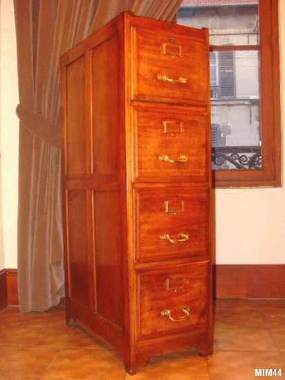 classeur tiroirs vers 1930. Black Bedroom Furniture Sets. Home Design Ideas