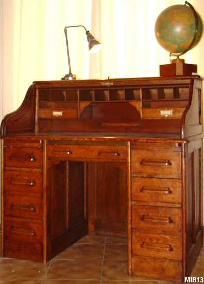bureau cylindre de type dos d 39 ne vers 1930. Black Bedroom Furniture Sets. Home Design Ideas
